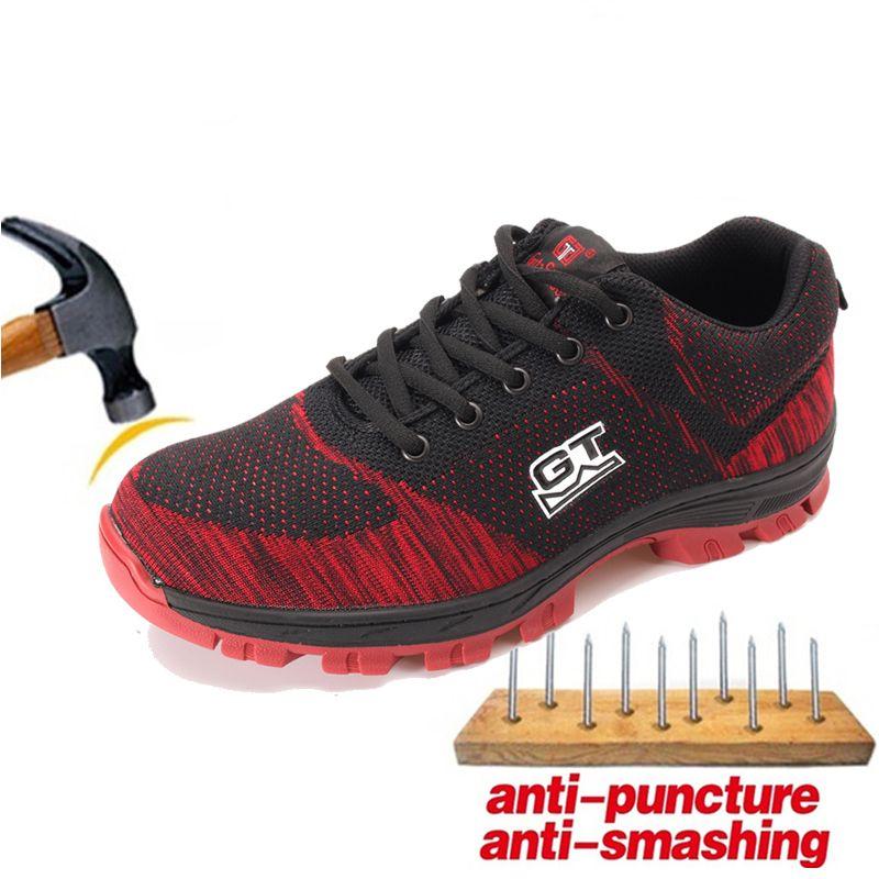 Leichte Anti-punktion Männer Arbeit Sicherheit Schuhe Männer Arbeit Schuhe Anti-smashing Stahl Kappe Arbeit Stiefel Klettern Wandern turnschuhe Neue
