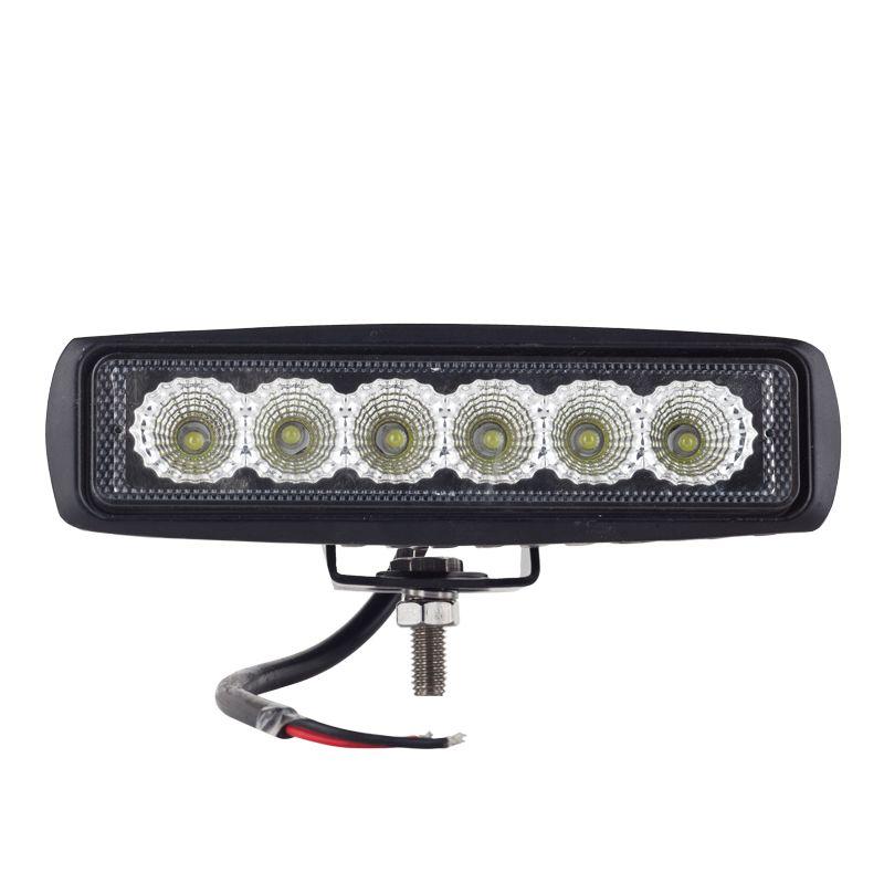 12 v/24 v 18 w LED Lampe de Travail Lampe Spotlight Projecteur Led Day Time Running Spot Offroad Tracteur 4x4 Moto Externe Lumière Bar