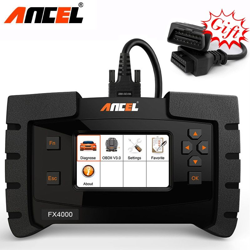 Ancel FX4000 OBD2 All System Diagnostic tool Check Airbag ABS SRS EPB Transmission Oil Reset Car Automotive Scanner