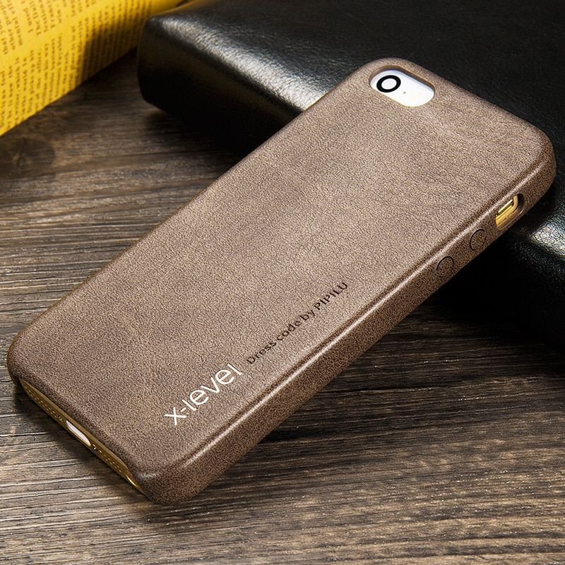 X-level Phone Case For Apple Iphone 5 5s SE Case luxury Slim Soft Leather Vintage Case For iPhone 5s For iPhone SE Back Cover