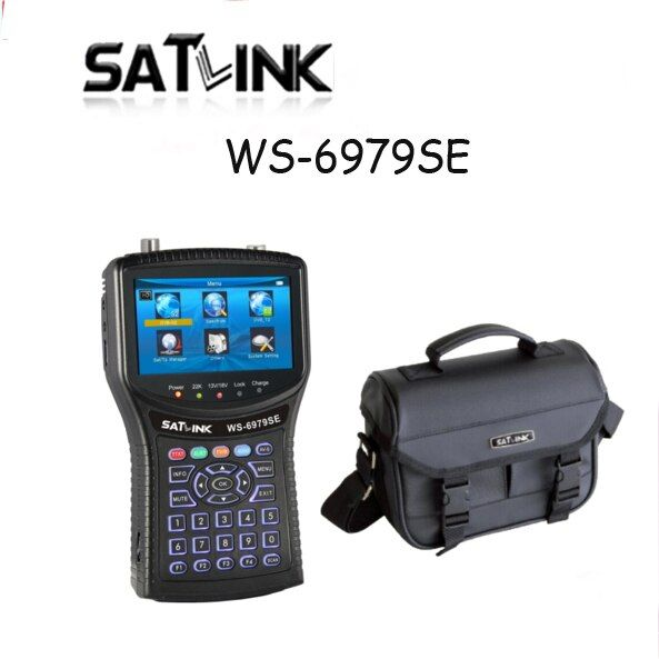 Original Satlink WS-6979SE DVB-S2 DVB-T2 MPEG4 HD COMBO Spectrum Satellite Meter Finder satlink ws6979se meter PK WS-6979