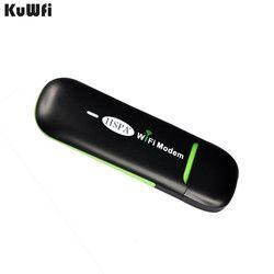 KuWFi 3G USB WIFI Router Tasche Wireless 7,2 Mbps USB Mobile Wifi Hotspot Kleinste WiFi Modem Router Mit SIM karte für Bus oder Auto