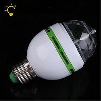 Festival E27 3 W 85 V-260 V LED luz de la etapa de Navidad colorido automática de bulbo RGB fiesta efecto lámpara Disco bola mágica de EU/US Plug