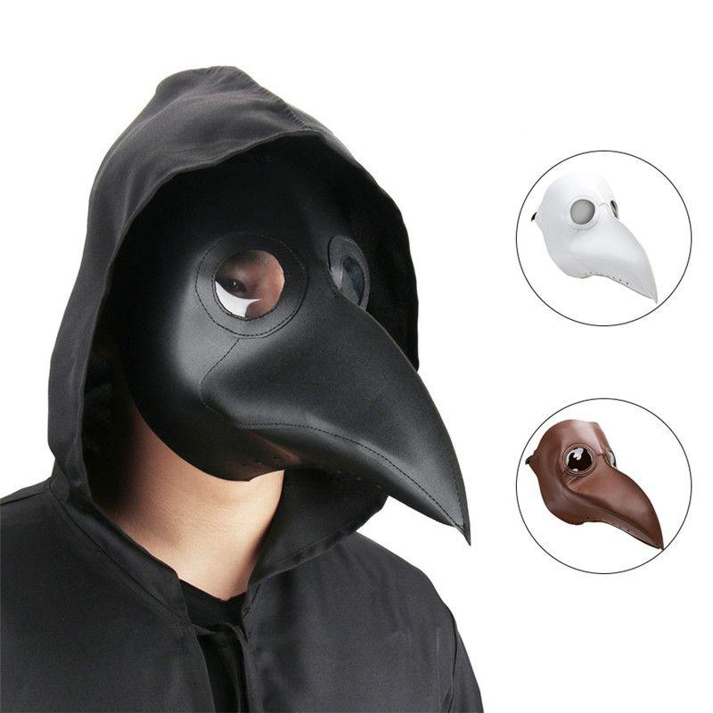 Takerlama cospaly dr. beulenpest Steampunk plaga doctor máscara Faux cuero Aves pico Máscaras arte de Halloween Cosplay carnaval props