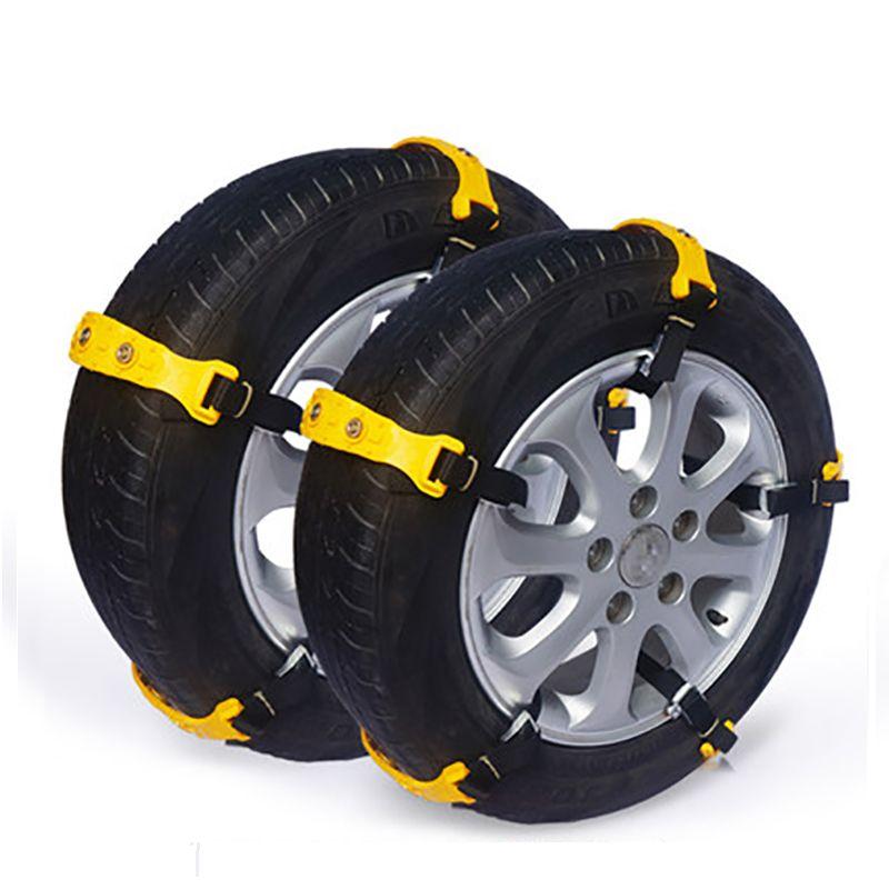 Car Snow Tire Chains Anti-skid Chain Beef Tendon TPU Belt Tire Anti Skid Winter Accessories Thickened VAN Wheel Tyres Anti-Slip