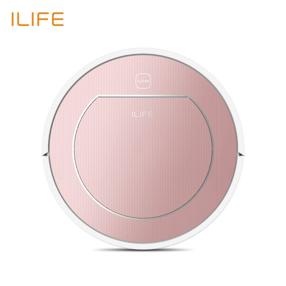 ILIFE V7S PLUS Robot Vacuum <font><b>Cleaner</b></font> with Self-Charge Wet Mopping for Wood Floor