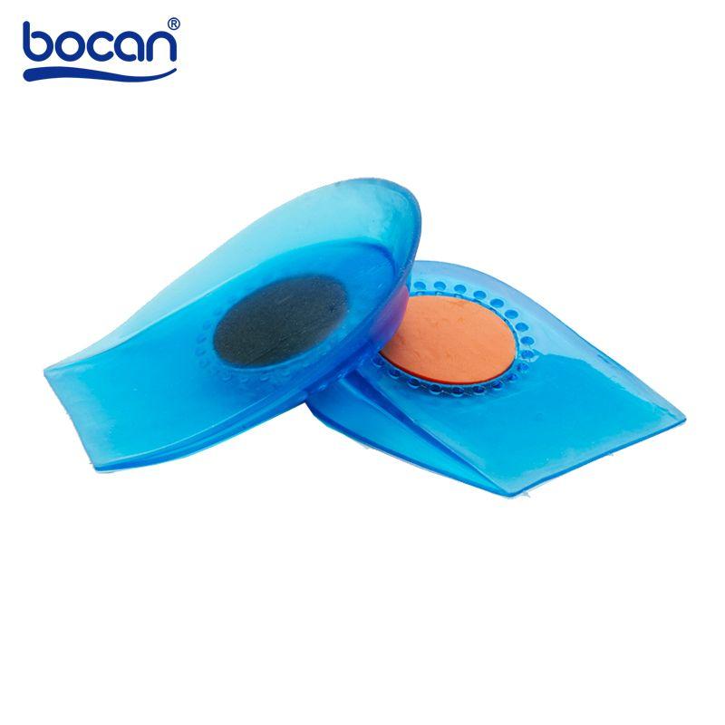 Bocan talon semelles droites douleur au pied soulager les protecteurs de talon inserts absorption des chocs pieds soin semelle intérieure pour hommes et femmes