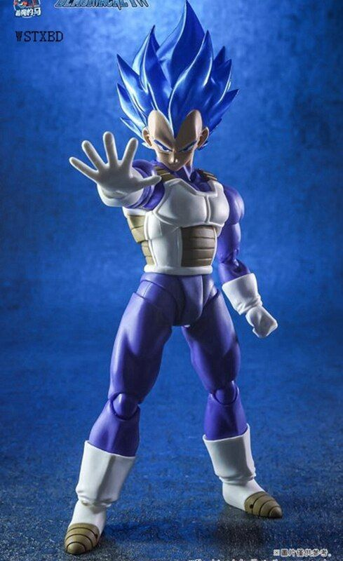 WSTXBD Demoniacal Suit for Dragon Ball Z DBZ shf SSJ Nevy Blue Vegeta Accessories without figure Action Figure Toys Figurals
