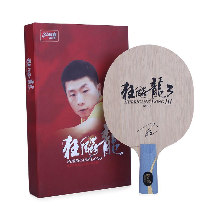 DHS Hurrikan Lange 3 (Ma Lange 3) Tischtennis Klinge (7 Ply Holz) ping Pong Bat Paddel