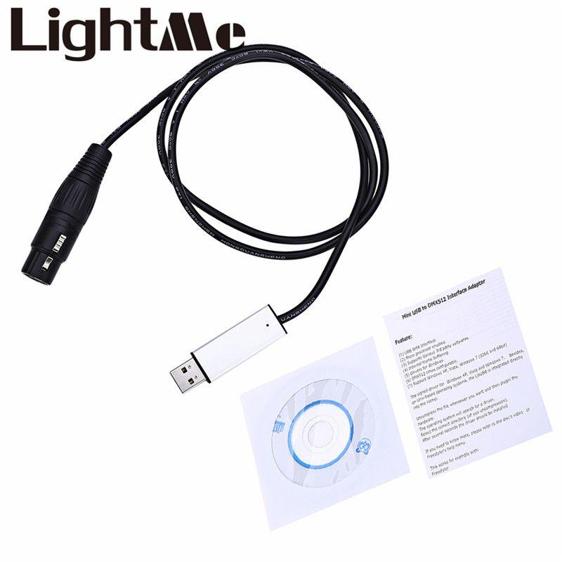 USB DMX Adaptateur D'interface LED DMX512 Studio Ordinateur PC Éclairage de Scène Contrôleur Gradateur Pour LED Effet Maître-Esclave Led Plat