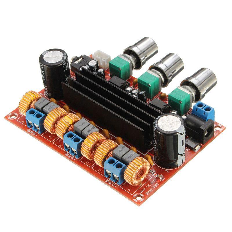HFES New Amplifier Board TPA3116D2 50Wx2+<font><b>100W</b></font> 2.1 Channel Digital Subwoofer Power 12~24V