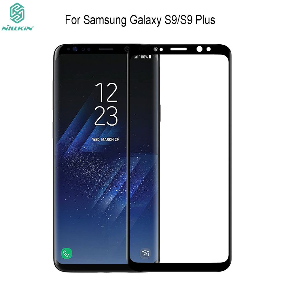 For Samsung Galaxy S9/S9 plus Coverage NILLKIN Amazing 3D CP+ MAX Nanometer Anti-Explosion 9H Tempered Glass Screen Protector