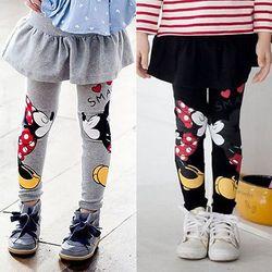 Baru 2018 Musim Gugur Musim Dingin Balita Bayi Anak-anak Gadis Minnie Mouse Rok Celana Legging
