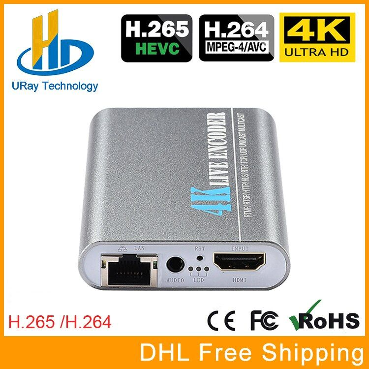 New Product HEVC H.265 H.264 4K Ultra HD HDMI Video Streaming Encoder RTSP UDP RTMP Encoder IPTV Support Video Record Capture