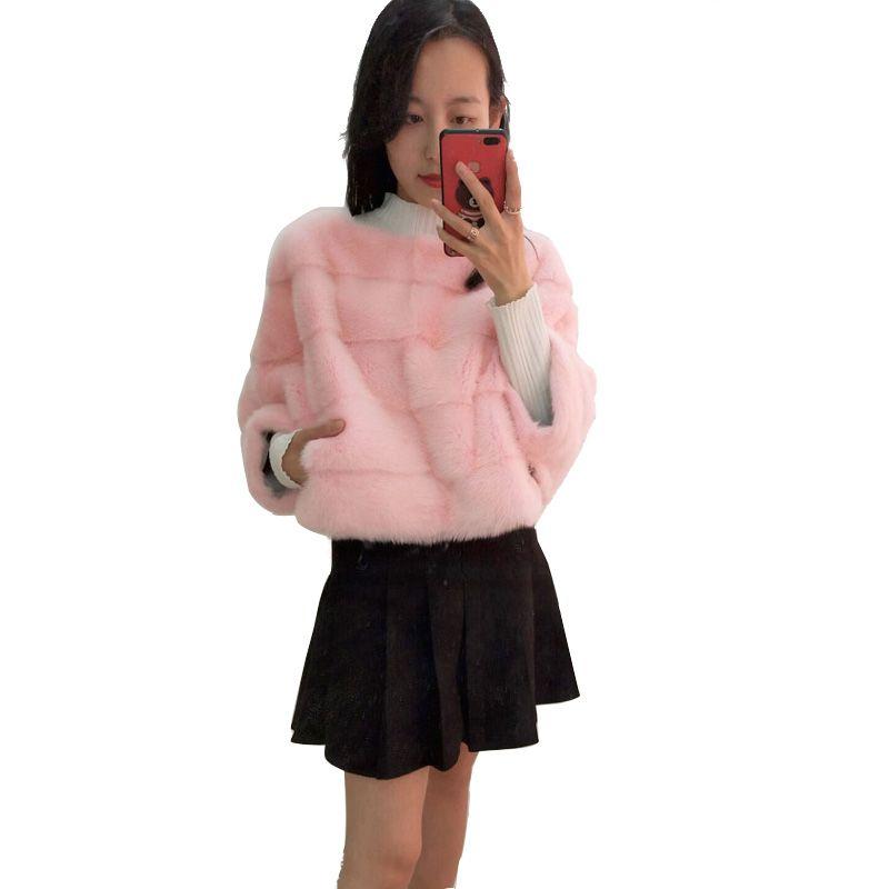 Real Mink coat whole mink fur coat bat shirt female