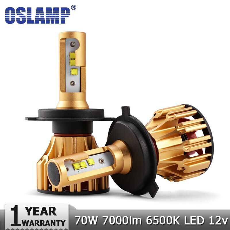 Oslamp H4 H7 LED Headlight Bulbs H11 9005 9006 SMD Chips 70W <font><b>7000LM</b></font> 6500K Car Led Auto Headlamp Headlights Fog Light 12v 24v