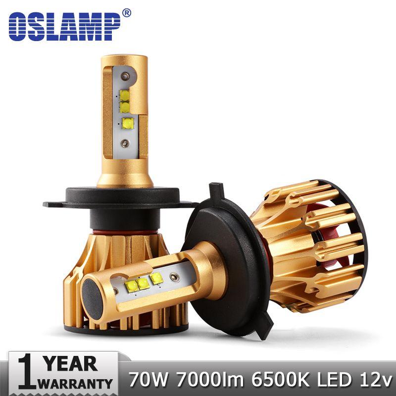 Oslamp H4 H7 LED Headlight Bulbs H11 9005 9006 SMD Chips 70W 7000LM 6500K Car Led Auto Headlamp Headlights Fog Light 12v 24v