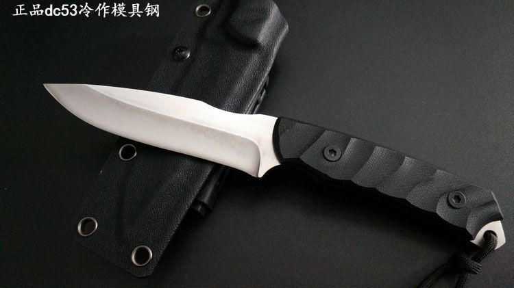 63HRC Survival knife outdoor DC53 steel high hardness small straight knife outdoor essential tool for self-defense Favorites