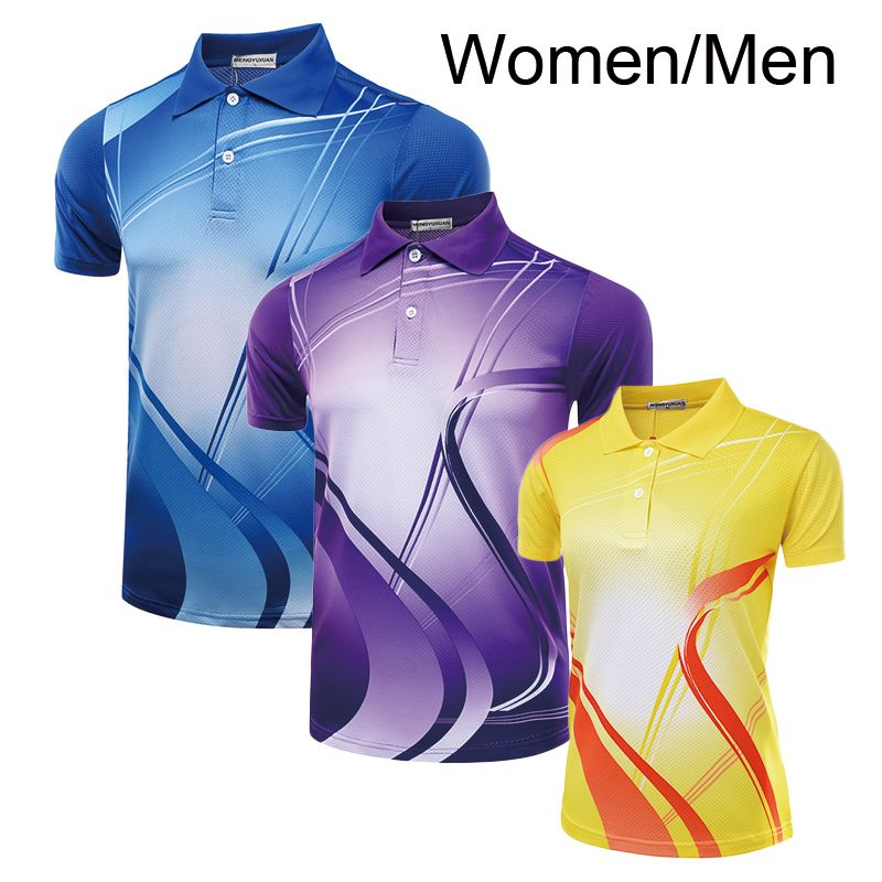 Freies Print badminton hemd Männer/Frauen, tischtennis shirt, Badminton t-shirt weibliche/männlich, sport Tennis shirt 5051AB