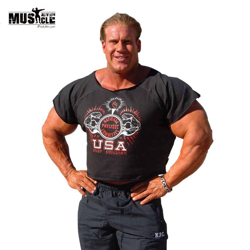 Мышцы жив Бодибилдинг Rag Топы корректирующие для Для мужчин золотые футболки Фитнес майка NPC Olimp жилет weightliting майка высокое качество