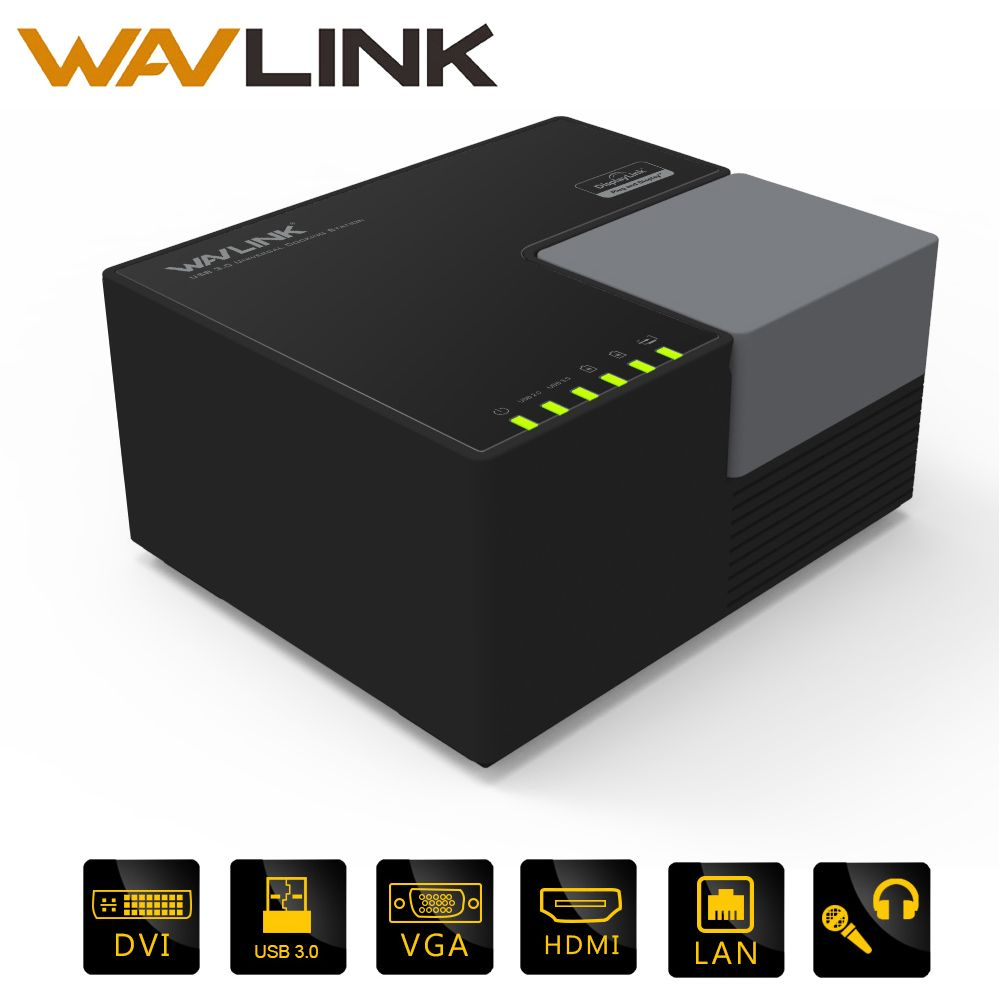 Universal Docking Station Wavlink External USB 3.0 Dual Video DisplayLink USB HUB Full HD 1080P 2048x1152 DVI HDMI FOR LAPTOP PC