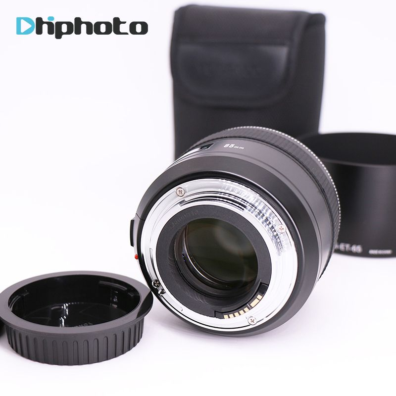YONGNUO 85mm F1.8 AF/MF Standard Medium Telephoto Lens for Canon,YN85mm Prime Lens Fixed Focus for Canon EOS Camera 80D 70D 760D