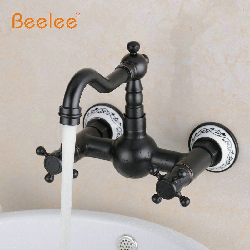 Beelee bl6056b-1 масло втирают Бронзовый Кухня раковина кран Настенные смесителя Поворотный носик