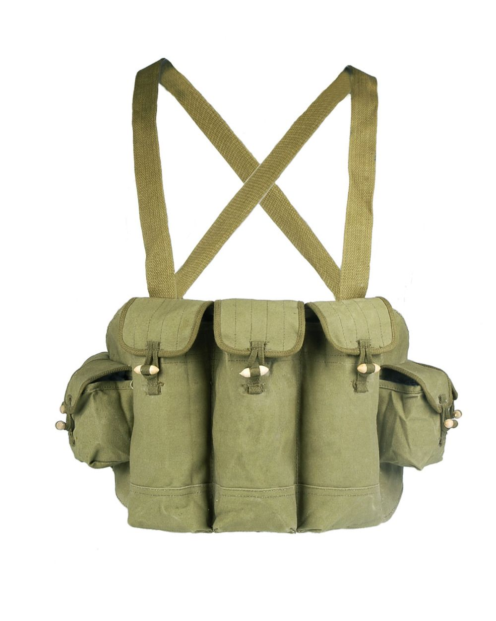 Loklode Chinese Military Surplus AK47 Chest <font><b>Pouch</b></font> Rig Ammo Mag Bandolier Type 56