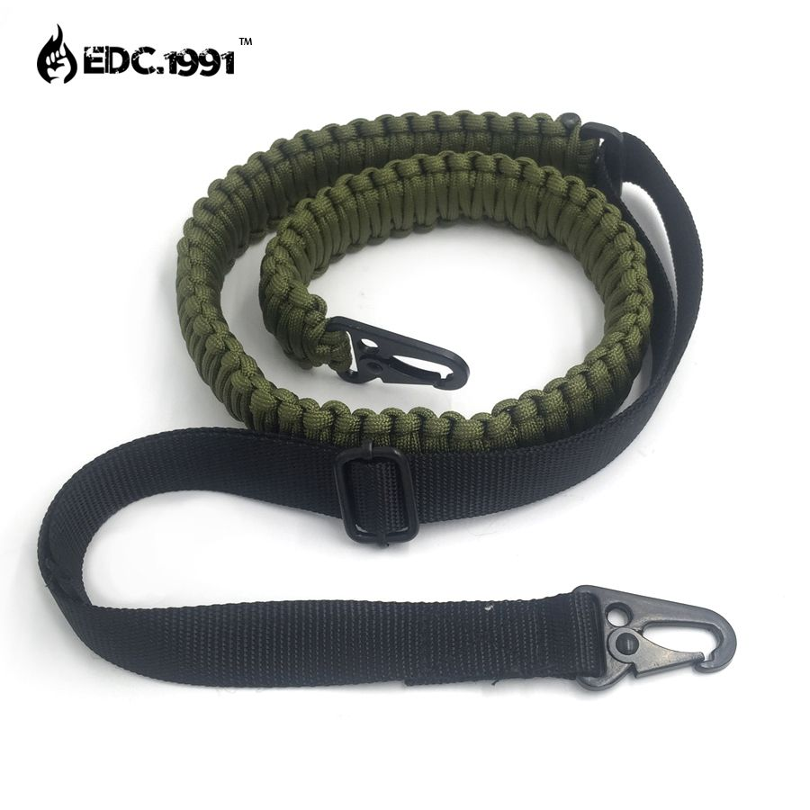 hand made Adjustable Paracord Rifle Gun Sling Strap With Swivels  Tactical hunting gun Strap camping equipment edc survive