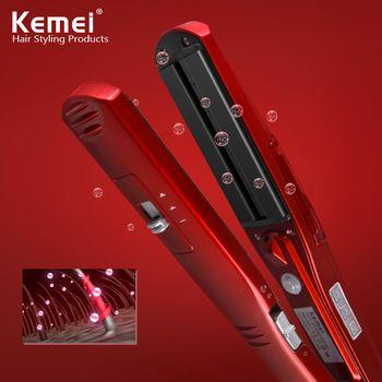 Kemei3011 sec fer cheveux lisseur Professionnel Coiffure Portable En Céramique Fers À Défriser Les Cheveux Styling Outils