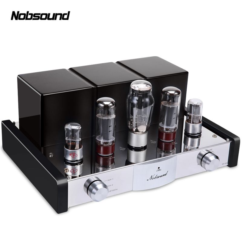 Nobsound MS-50D Bluetooth 4.0 APT-X Power Amplifier Class A Single-Ended EL34B Vacuum Tube Hi-Fi Stereo Lossless Audio Amplifier