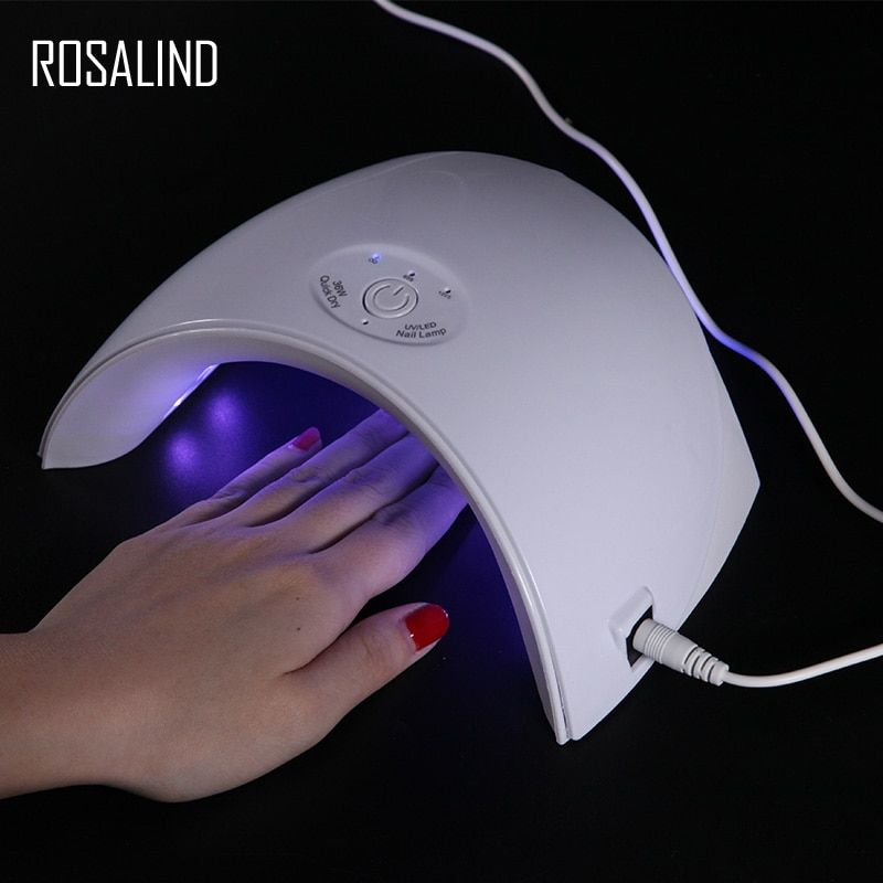 ROSALIND 36 W lampe pour ongles Sèche de gel USB Connecteur Ultraviolet UV LED Lampe pour manucure nail Sèche-