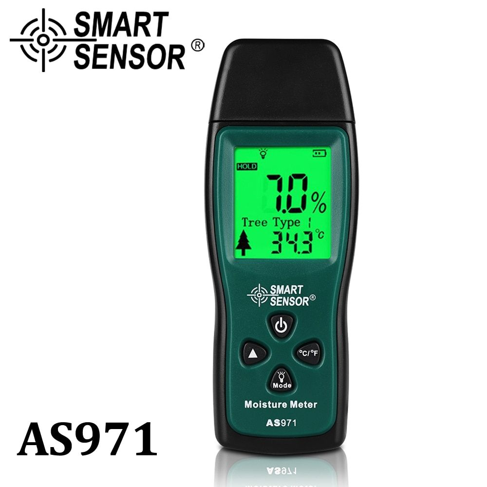 Wood Moisture Meter , Humidity Tester Timber Damp Detector paper digital Moisture Meter <font><b>Test</b></font> wall moisture analyzer Range 2%~70%