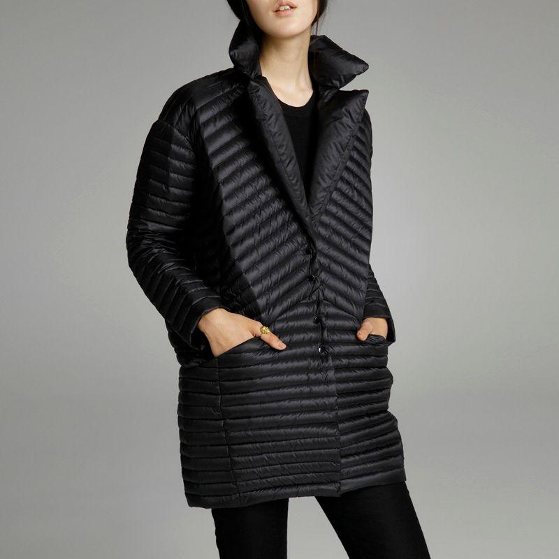 2019 printemps mince vers le bas manteau moyen-long vers le bas femme patchwork couleur bloc thermique nouveauté femmes doudounes pour les femmes