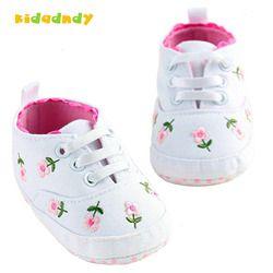 Kidadndy zapatos de bebé para la niña primavera Rosa Blanca flores Bebé Zapatos zapatos de niño bebé femenino A14LLR