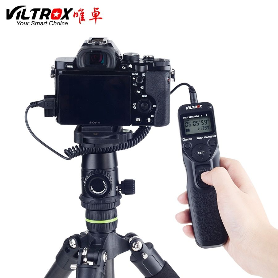 VILTROX Timer Remote Control Shutter Intervalometer with S2 Cable for SONY alpha A7RII A7MII A7SII RX100III IV RX10 A6500 A6300