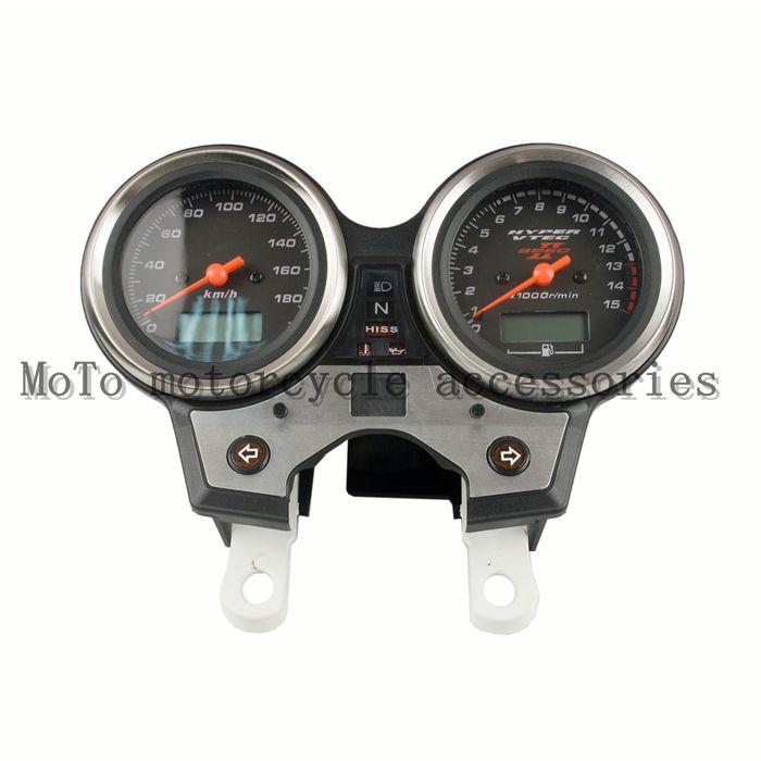 Motorcycle Speedometer Tachometer Odometer KM/H RPM Instrument Meter Assembly For Honda CB400 vtec 2 2002-2004(no line)