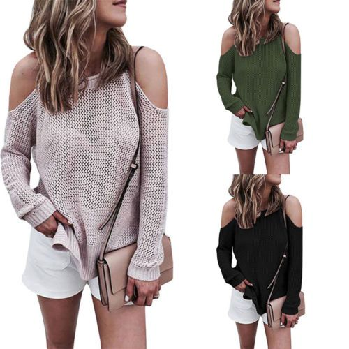Women Long Sleeve Loose Sweater Knitted Cardigan Coat Jacket Outwear Casual New Size S-XL