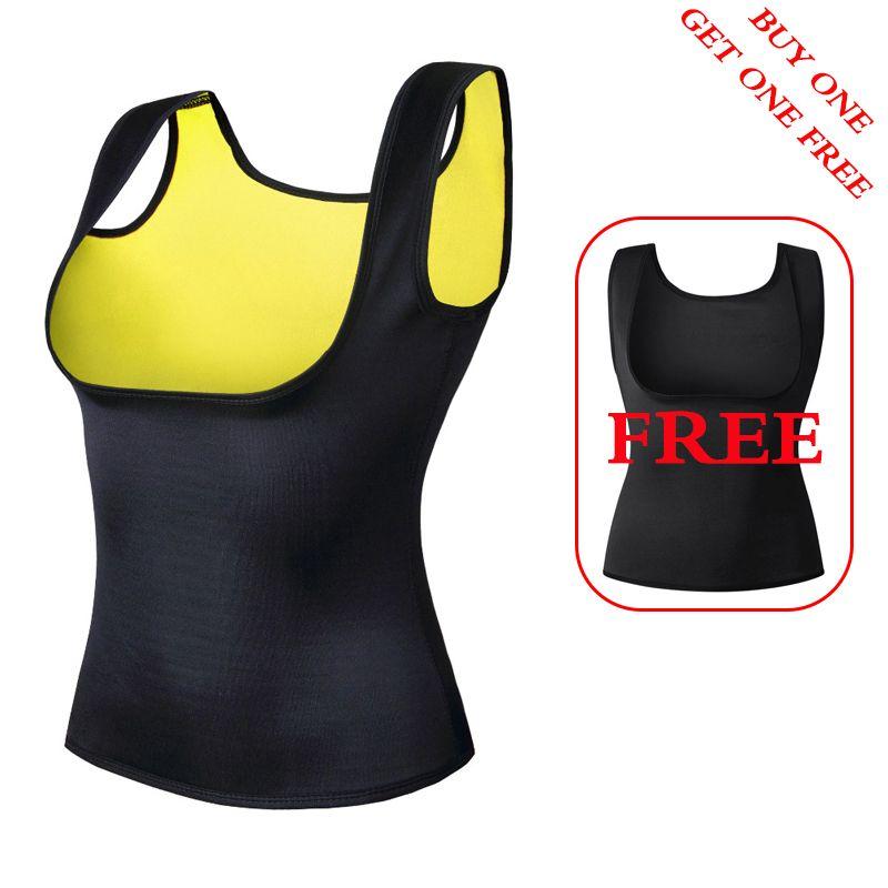 2 pieces Women's Waist Trainer Neoprene Slimming Vest Waist Trainer Body Shaper for Weight Loss Shapewear Neoprene Body Shaper
