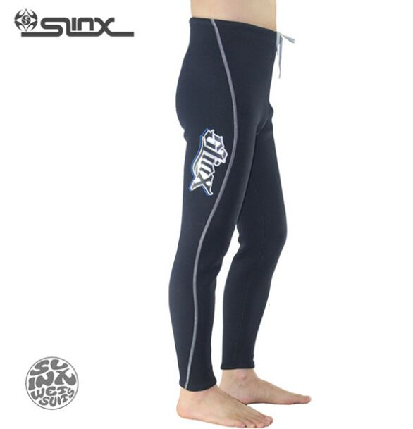 SLINX 1309 3mm Neoprene Men Fleece Lining Warm Pants Scuba Diving Trousers Spearfishing Triathlon Snorkeling Swimwear Wetsuit