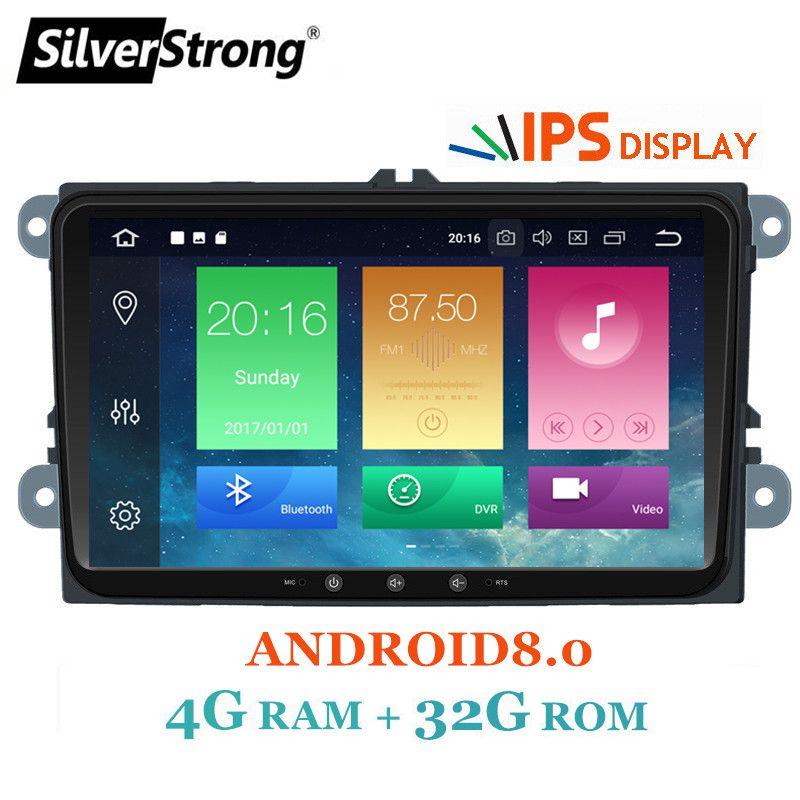 SilverStrong IPS Android8.0-8.0 for VW 2Din Car Radio for Passat B6 B7 Golf5 6 Jetta Tiguan for Skoda Octavia2 superb fabia 901
