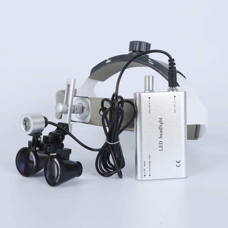 2.5X/3.5X Hohe Intensität LED Licht Fernglas Chirurg Bedienung Medizinischen Lupe Zahnmedizin Klinische Chirurgische Dental Lupen