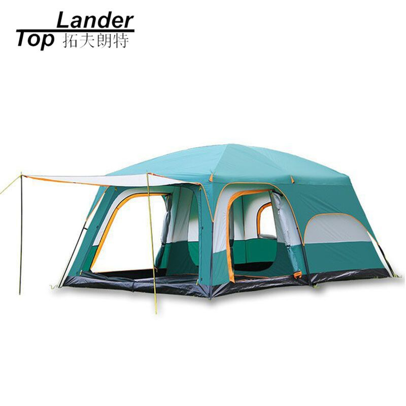 8 10 12 Person Large Camping Tent Waterproof Family Tents for Outdoor Double Layers Event Luxury Camping Tents