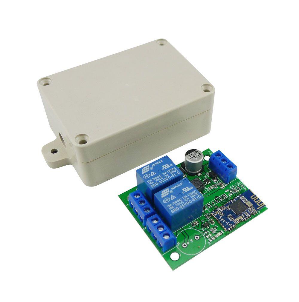 Aihasd 2 Canal Relais Module Bluetooth 4.0 BLE Commutateur pour Apple Android Téléphone IOT avec la Boîte