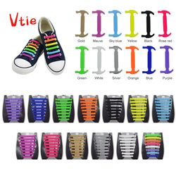 16Pc/Set New Unisex Adult Athletic Running No Tie Shoelaces Elastic Silicone Shoelaces All Sneakers Fit Strap Shoe Lace
