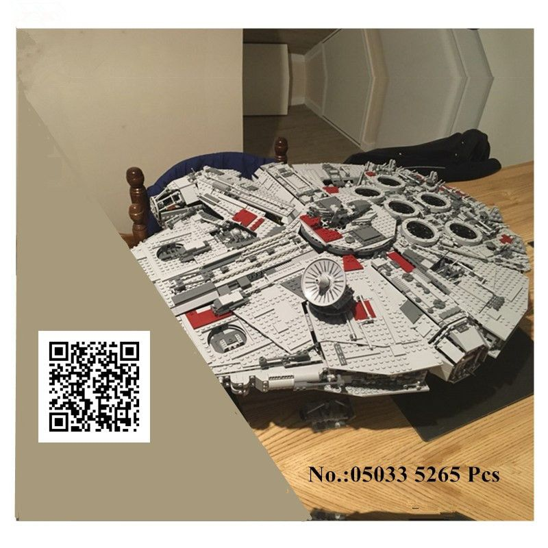 IN STOCK H&HXY Star 05033 5265Pcs Ultimate Wars LEPIN Collector's Millennium Falcon Model Building Blocks Bricks Toy Gift 10179