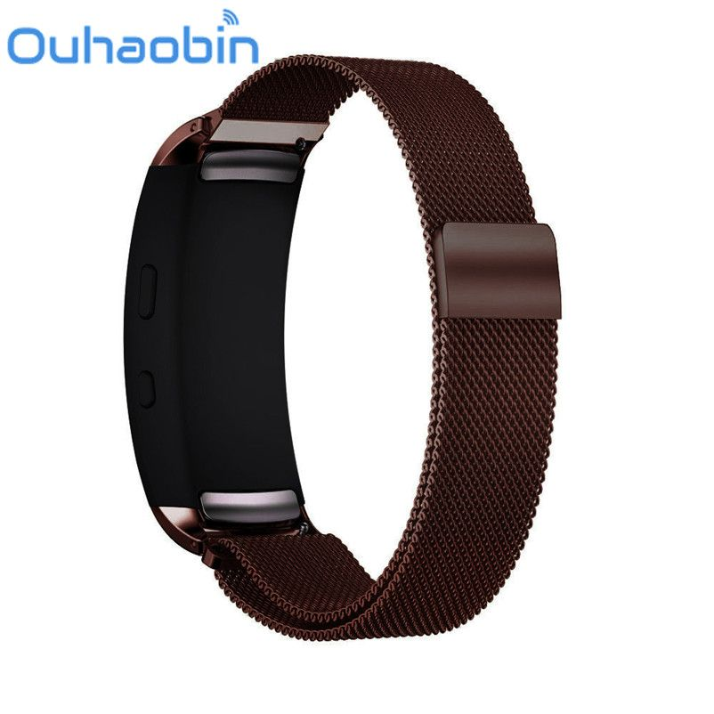 Ouhaobin Edelstahl Milanese Armband armband für Samsung Galaxy Getriebe fit 2 SM-R360 GPS Magnetschleife Armband