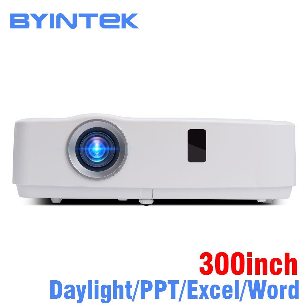 BYINTEK Marke Cloud K3 300 zoll Tageslicht 3300ANSI 3LCD Video Film 1080P FUll HD Projektor für Heimkino bildung Business