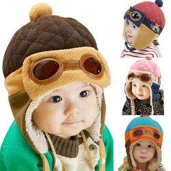 10 sampai 48 Bulan Bayi Topi Musim Dingin 4 Warna Balita Keren bayi Laki-laki Perempuan Musim Dingin Percontohan Anak Topi Hangat Topi Beanie