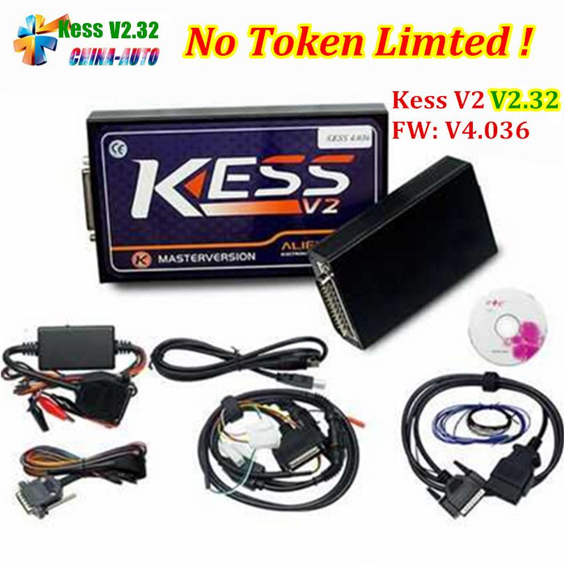 KESS V2.32 with ECM Titanium 2017 Latest Version ECU Manager Tuning Kit KESS V2 FW V4.036 No Token Limit OBD2 Master Version